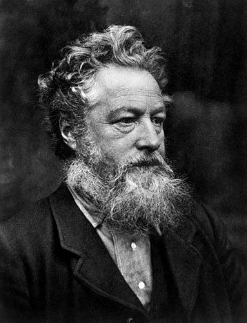 William Morris, an English textile designer, artist, writer, and libertarian socialist associated with the Pre-Raphaelite Brotherhood and English Arts and Crafts Movement.